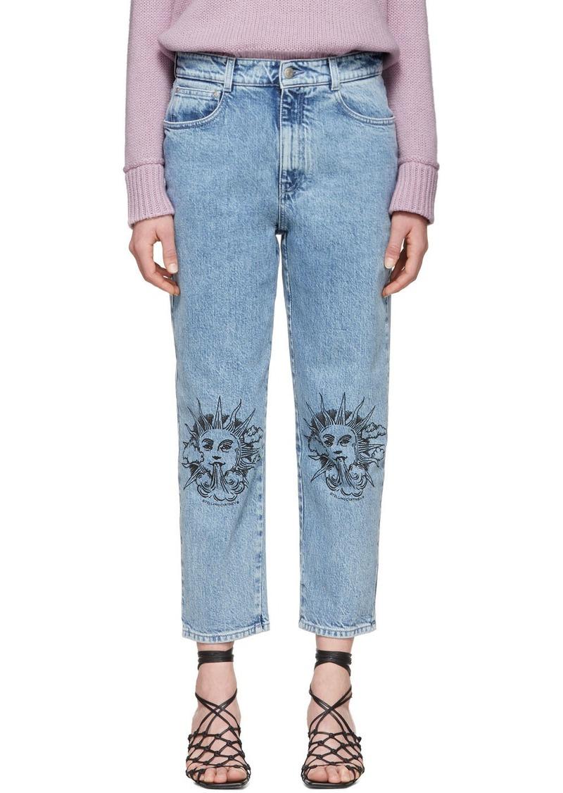 Stella McCartney Blue We Are The Weather Sun Motif Jeans