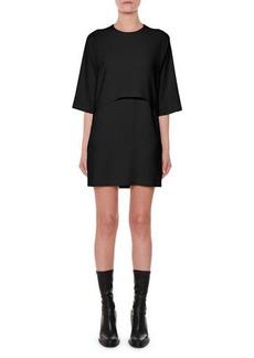Stella McCartney Bracelet-Sleeve Shift Cocktail Dress with Chain Fringe Hem