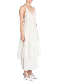 Stella McCartney Brianna Silk Broderie Anglaise Overlay Dress