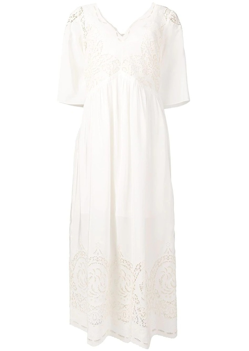 Stella McCartney broderie anglaise maxi dress