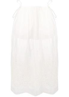Stella McCartney broderie anglaise sheer skirt