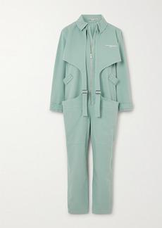 Stella McCartney Buckled Printed Stretch-cotton Jumpsuit
