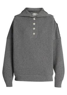 Stella McCartney Button-Front Wool Sweater