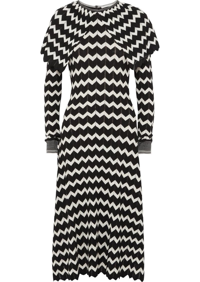 e73d9dfe87ed Stella McCartney Cape-effect Intarsia Wool Midi Dress