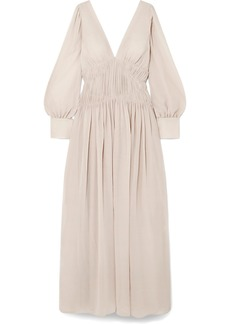 Stella McCartney Carleigh Ruched Silk-georgette Maxi Dress