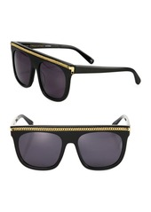 Stella McCartney Chain-Trim 55MM Square Sunglasses