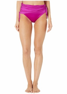 Stella McCartney Charms Draped High-Waist Bikini Bottom