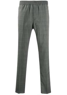 Stella McCartney check print straight trousers