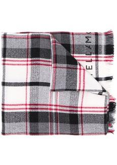 Stella McCartney checked logo long scarf