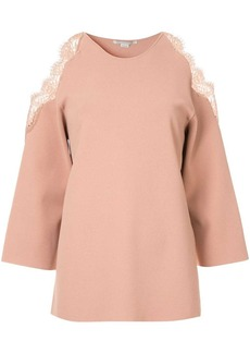 Stella McCartney cold-shoulder knitted top