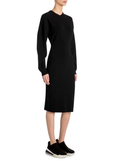Stella McCartney Compact Knit Long Sleeve Sweater Dress