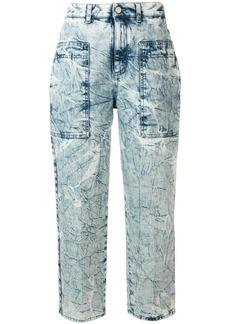 Stella McCartney crinkle-effect straight-leg jeans