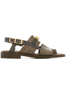 Stella McCartney croco-embossed sandals