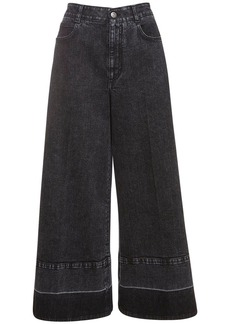 Stella McCartney Crop Eco Denim Wide Leg Jeans