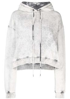 Stella McCartney cropped acid wash hoodie