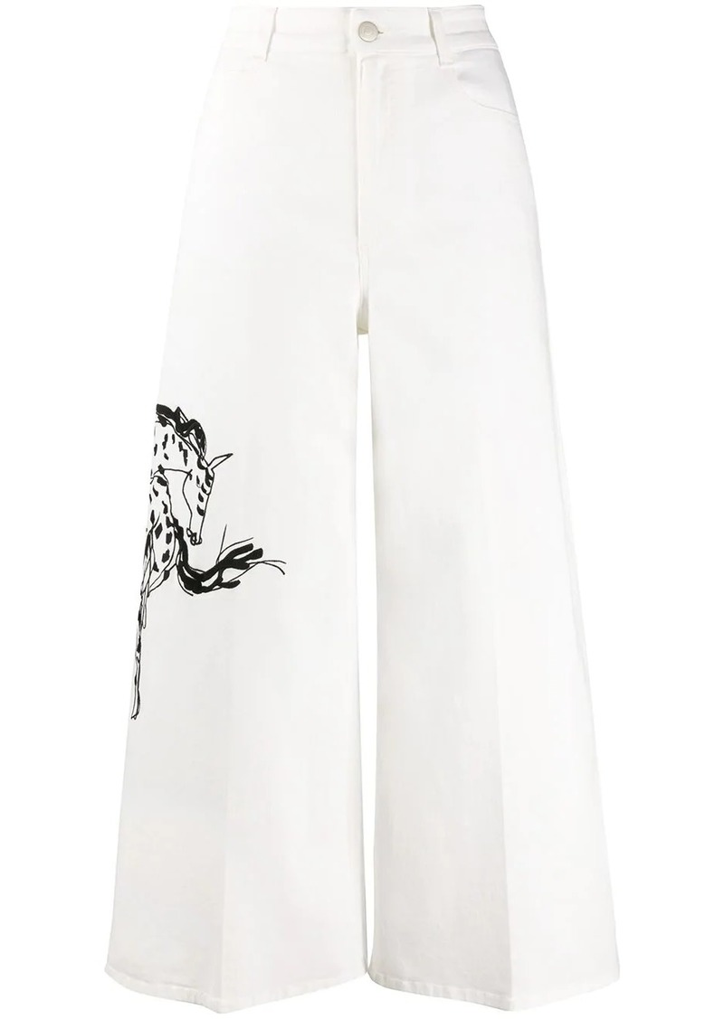 Stella McCartney cropped flared high-rise jeans