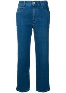 Stella McCartney cropped star seam jeans