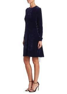 Stella McCartney Crushed Velvet Swing Dress