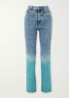 Stella McCartney Dégradé High-rise Straight-leg Jeans