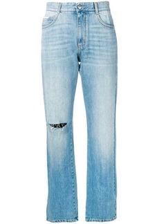 Stella McCartney distressed cropped jeans