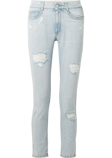 Stella McCartney Distressed Slim Boyfriend Jeans