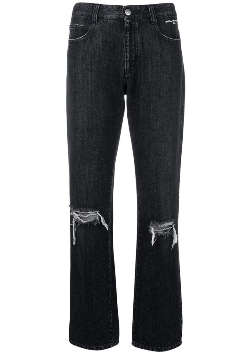 Stella McCartney distressed straight-leg jeans