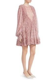 Stella McCartney Ditsy Floral Silk Ruffle Dress