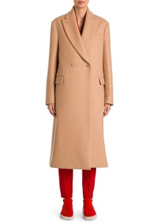 Stella McCartney Double-Breasted Camel Wool Coat