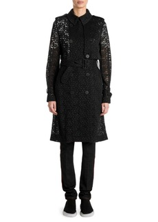 Stella McCartney Double-Breasted Lace Trench Jacket