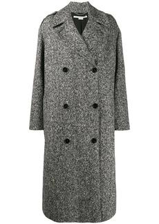 Stella McCartney double-breasted marled coat