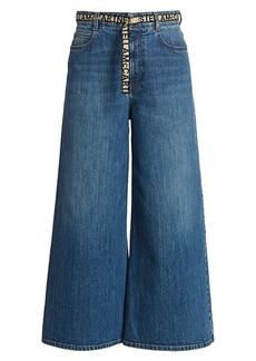 Stella McCartney Eco Dark Stone Wide-Leg Jeans