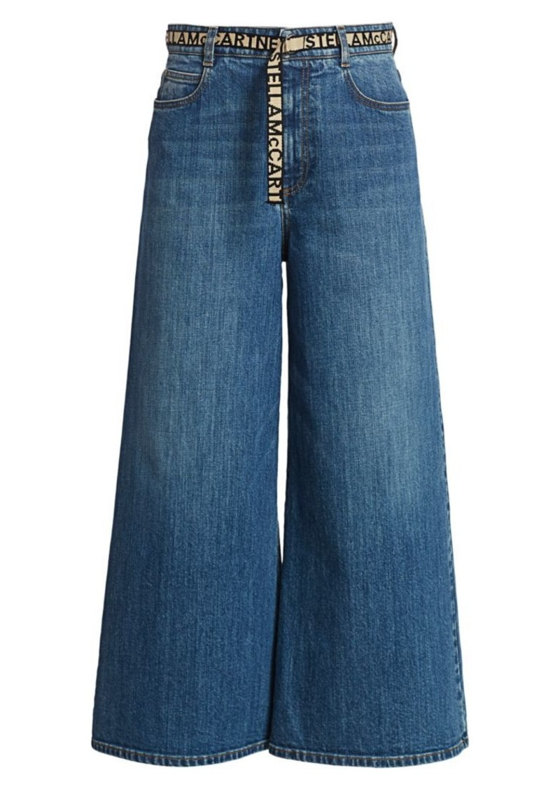 Stella McCartney Eco Dark Stone Wide-Leg Jeans