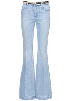 Stella McCartney Eco Denim Flared Jeans W/logo Belt
