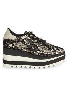 Stella McCartney Elyse Lace Platform Wedge Sneakers
