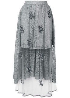 Stella McCartney embellished lace high-low skirt