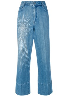 Stella McCartney embellished wide-leg jeans