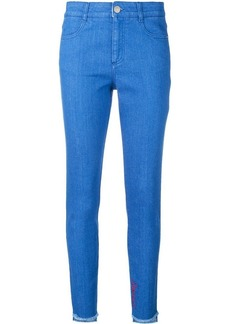 Stella McCartney embroidered skinny jeans