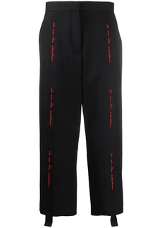 Stella McCartney WATW embroidered-tape tailored trousers