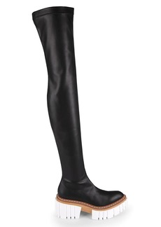 Stella McCartney Emilie Lug-Sole Over-The-Knee Boots