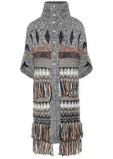 Stella McCartney Fair Isle wool-blend cape