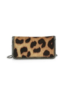 Stella McCartney Falabella Leopard-Print Crossbody Bag