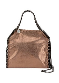 Stella McCartney Falabella Mini Shiny Dotted Chamois Tote Bag