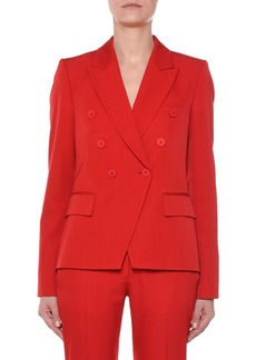 Stella McCartney Faux Double-Breasted Tailored Wool Blazer