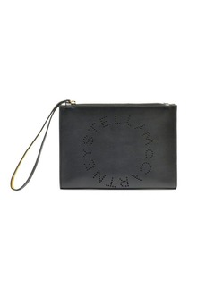 Stella McCartney Faux Leather Logo Wristlet