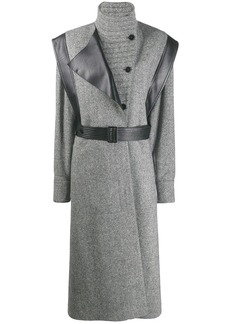 Stella McCartney faux leather trim coat