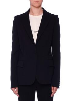 Stella McCartney Fitted One-Button Classic Wool Blazer
