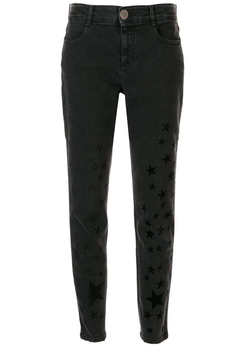 Stella McCartney flock-star skinny jeans
