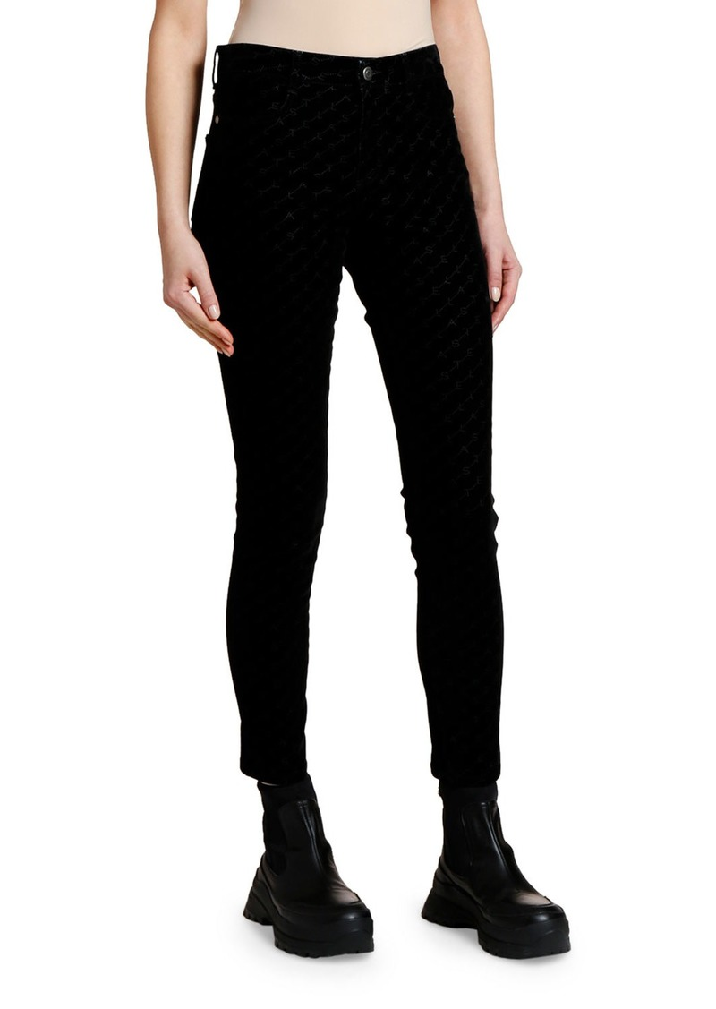 Stella McCartney Flocked Skinny Jeans
