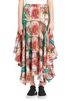 Stella McCartney Floral High-Low Hem Skirt