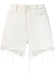 Stella McCartney frayed hem denim shorts